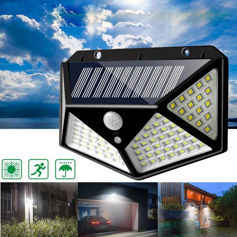 5pcs 100 Led Solar Powered Pir Motion, Imre 2 Light Outdoor Sconce With Motion Sensor